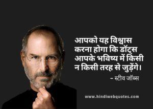 Best Steve Jobs Quotes in Hindi | स्टीव जॉब्स के अनमोल विचार